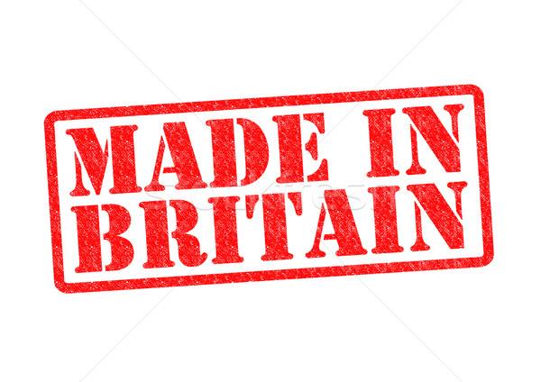 Groot-brittannië witte Rood bouwen rubber Stockfoto © chrisdorney