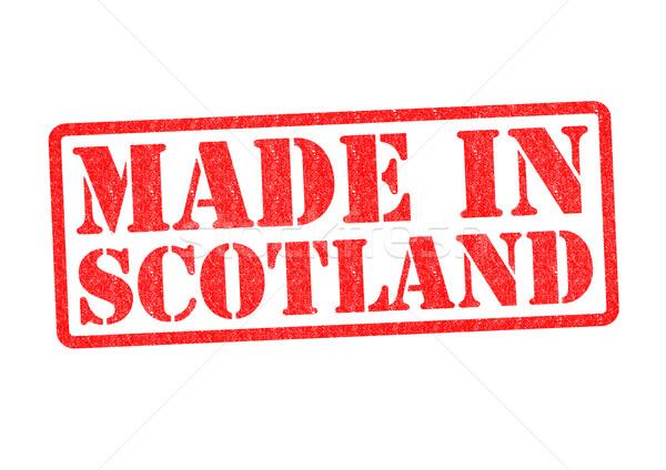 Escócia branco vermelho construir borracha Foto stock © chrisdorney