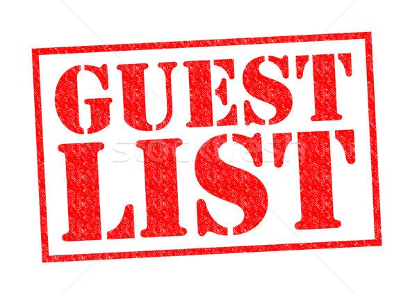 Invitado lista rojo blanco puerta Foto stock © chrisdorney