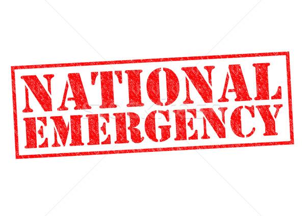 NATIONAL EMERGENCY Stock photo © chrisdorney