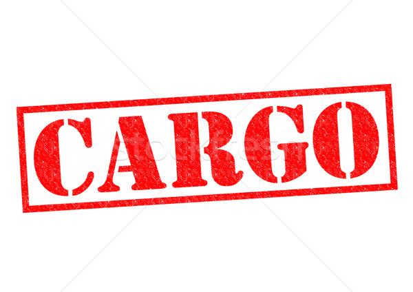 ストックフォト: 貨物 · 赤 · 白 · ビジネス · メール