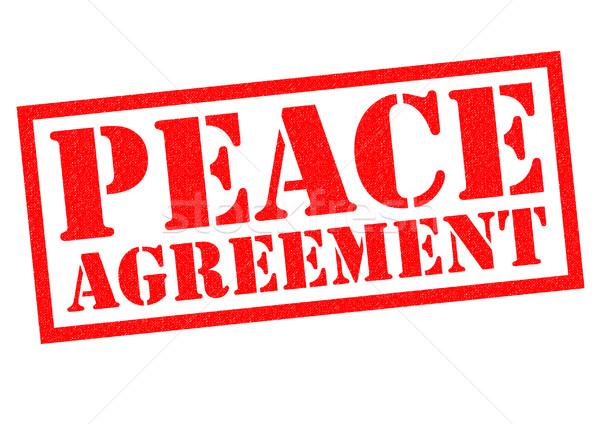 PEACE AGREEMENT Stock photo © chrisdorney