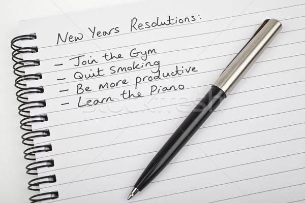 New Years Resolutions Stock photo © chrisdorney