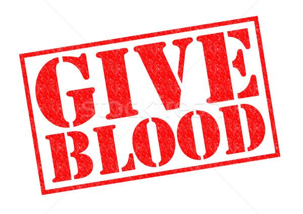 Dare sangue rosso bianco segno Foto d'archivio © chrisdorney