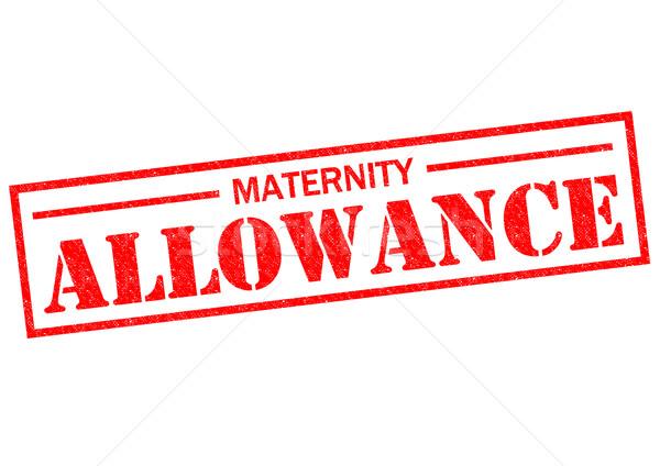 Moederschap toelage Rood witte zwangere Stockfoto © chrisdorney