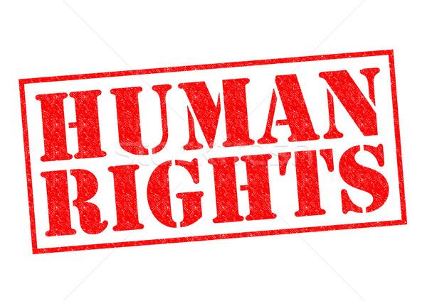 Insan hakları kırmızı beyaz özgürlük etiket Stok fotoğraf © chrisdorney
