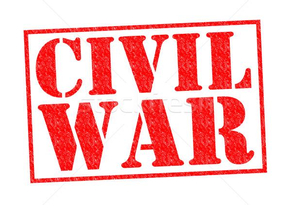 гражданская война красный белый войны помочь Сток-фото © chrisdorney