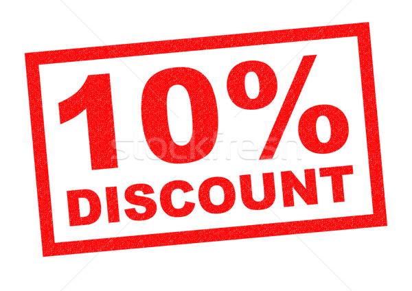 10% DISCOUNT Stock photo © chrisdorney
