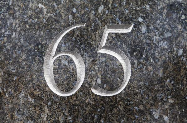 Number 65 Stock photo © chrisdorney