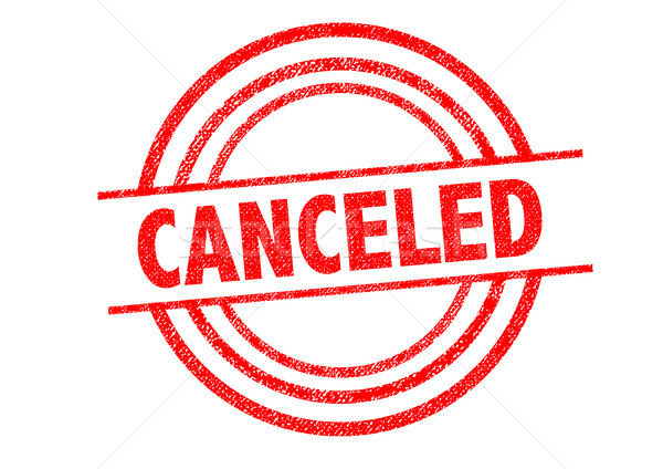 CANCELED Rubber Stamp Stock photo © chrisdorney