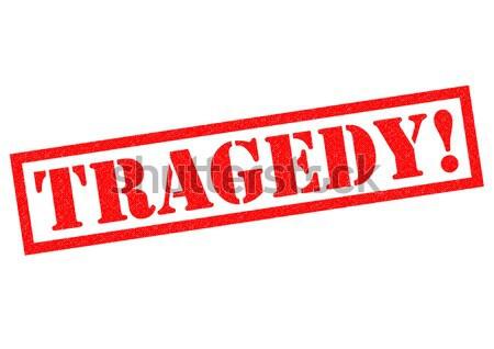Tragedie Rood witte tag verdriet Stockfoto © chrisdorney