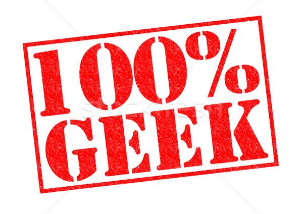 100 geek rosso bianco moda Foto d'archivio © chrisdorney