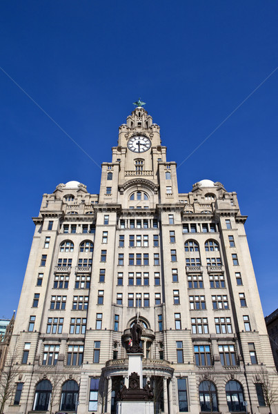 The Royal Liver Building on the Pier Head in Liverpool Stock photo © chrisdorney