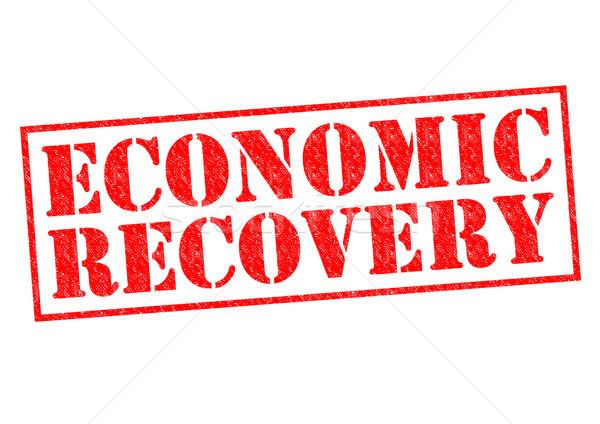 экономический красный белый деньги Сток-фото © chrisdorney