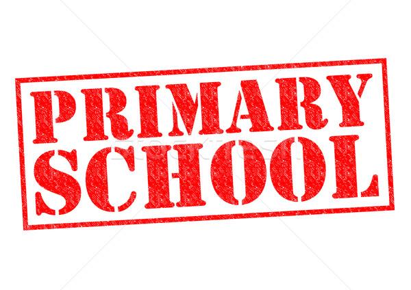 Escola primária vermelho branco escolas criança Foto stock © chrisdorney