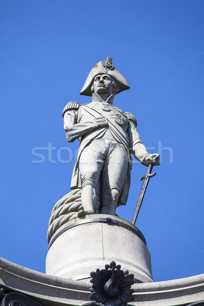 Admiral Nelson Statue on Nelson's Column in London Stock photo © chrisdorney