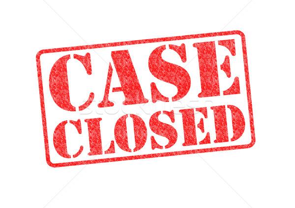 CASE CLOSED Stock photo © chrisdorney