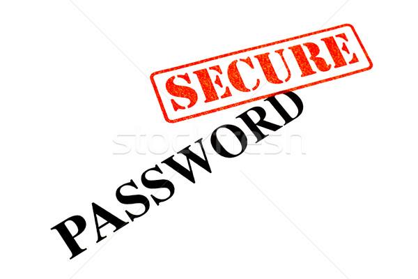 Mot de passe sécurisé signe web clé rouge Photo stock © chrisdorney