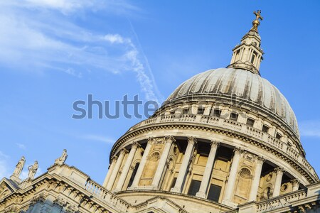 St. Pauls Cathedral and Statue of Saint Paul in London Stock photo © chrisdorney