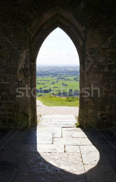 View from Glastonbury Tor in Somerset Stock photo © chrisdorney