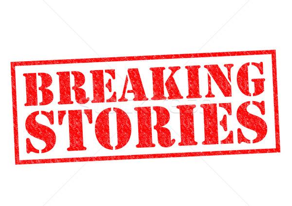 BREAKING STORIES Stock photo © chrisdorney