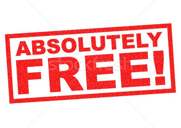ABSOLUTELY FREE! Stock photo © chrisdorney