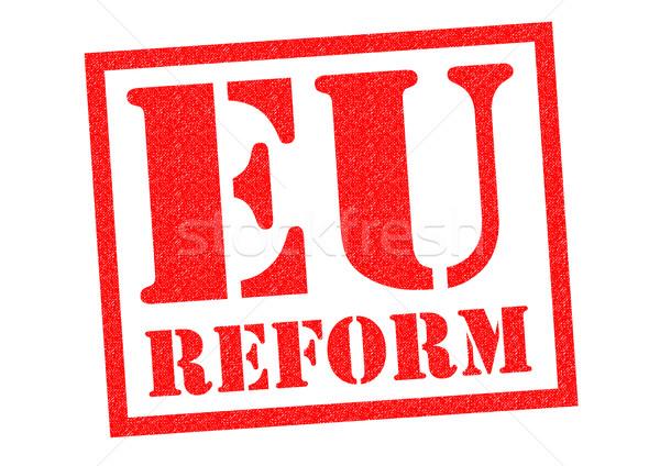 Eu 改革 赤 白 ヨーロッパ ストックフォト © chrisdorney