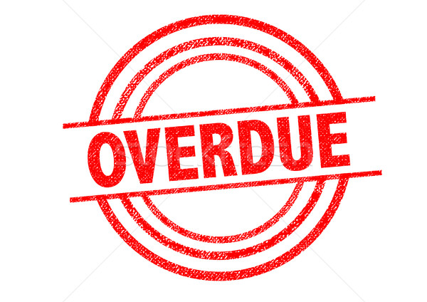 OVERDUE Rubber Stamp Stock photo © chrisdorney
