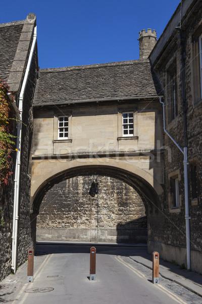 Cubierto puente oxford histórico ciudad Foto stock © chrisdorney