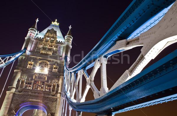 Tower Bridge noite impressionante arquitetura luz Foto stock © chrisdorney