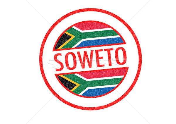 Sudáfrica blanco bandera África vacaciones Foto stock © chrisdorney