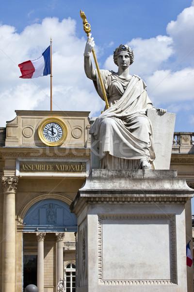 La Statue de la Loi outside Palais Bourbon in Paris Stock photo © chrisdorney