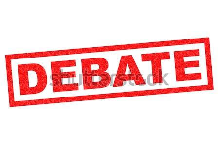 Debata czerwony biały spotkanie chat Zdjęcia stock © chrisdorney