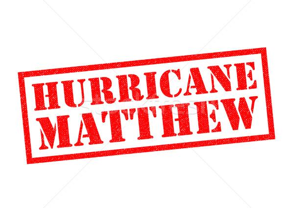 Ouragan rouge blanche nouvelles tampon Photo stock © chrisdorney