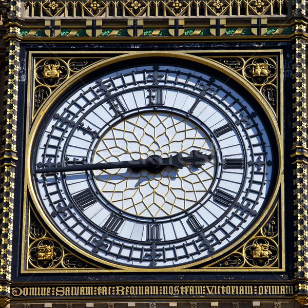 Big Ben Clock Face Detail in London Stock photo © chrisdorney
