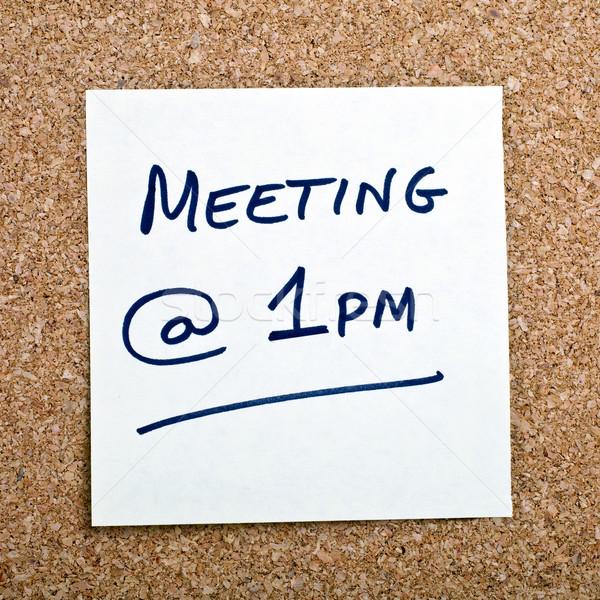 Lembrete nota negócio reunião mulher de negócios conselho Foto stock © chrisdorney