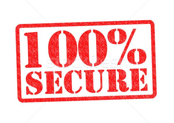 100 biztonságos pecsét fehér üzlet piros Stock fotó © chrisdorney