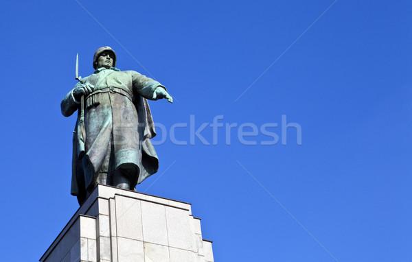 советский войны Берлин статуя путешествия солдата Сток-фото © chrisdorney