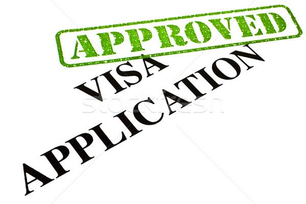 Visa demande document papier Photo stock © chrisdorney