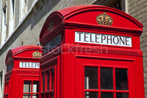 Rood telefoon dozen Londen telefoon Stockfoto © chrisdorney