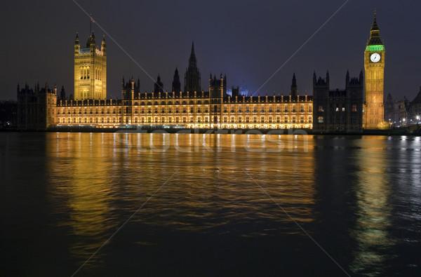Houses of Parliament at Night Stock photo © chrisdorney