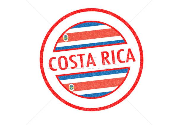 Costa Rica blanco bandera vacaciones botón Foto stock © chrisdorney