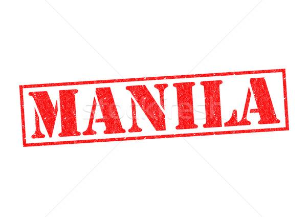 Manille blanche vacances bouton étiquette Photo stock © chrisdorney
