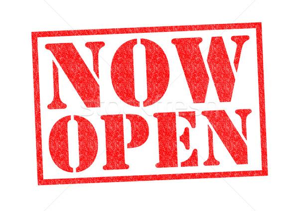 NOW OPEN Stock photo © chrisdorney