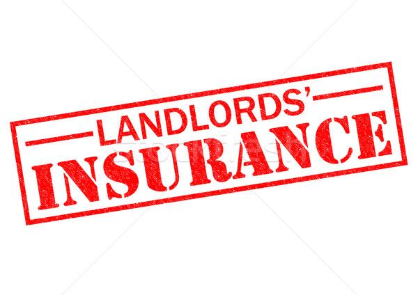 LANDLORDS' INSURANCE Stock photo © chrisdorney