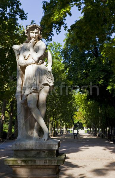 Luksemburg Paryż rzeźba piękna drzewo drzew Zdjęcia stock © chrisdorney
