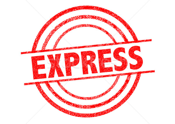EXPRESS Rubber Stamp Stock photo © chrisdorney