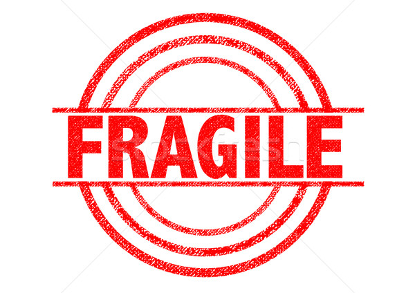 FRAGILE Rubber Stamp Stock photo © chrisdorney
