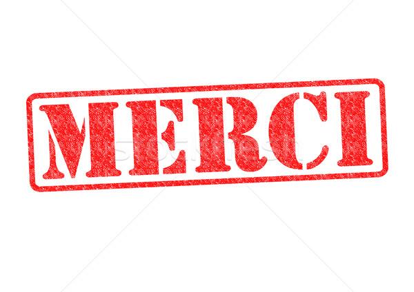 MERCI Rubber Stamp Stock photo © chrisdorney