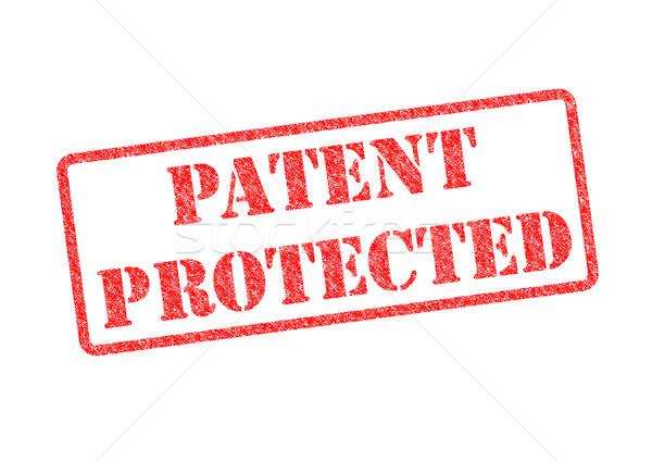 Patente protegido vermelho branco lei Foto stock © chrisdorney